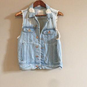 Thread & Supply Sleeveless Jean Jacket/Vest Small